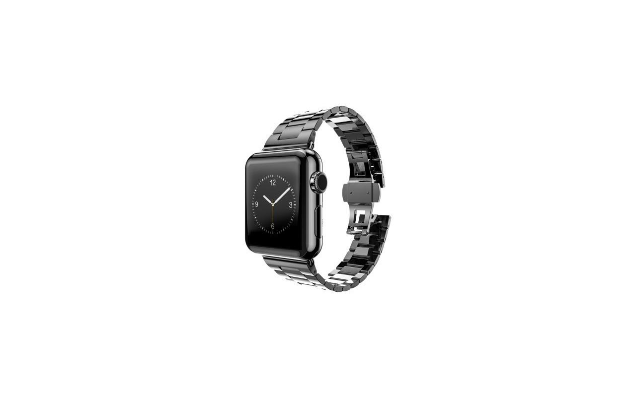 hoco Slimfit Steel Watchband voor Apple Watch (42mm) - 3 schakels - Dark Grey