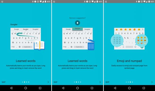 android toetsenbord 5.0