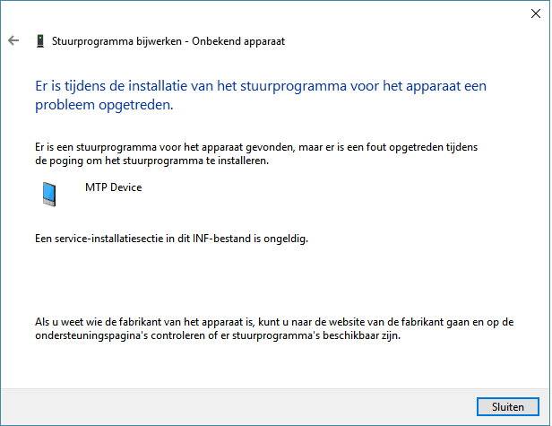 Lumia MTP-driver