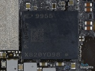 Intel-modem in iPhone XS (bron: TechInsights)