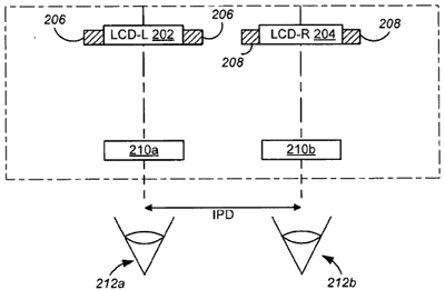 Apple patent head-mounted display ambilight