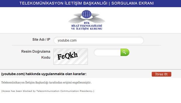 Turkije Youtube blokkade