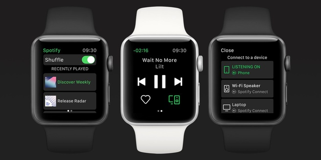 Spotify op Apple Watch