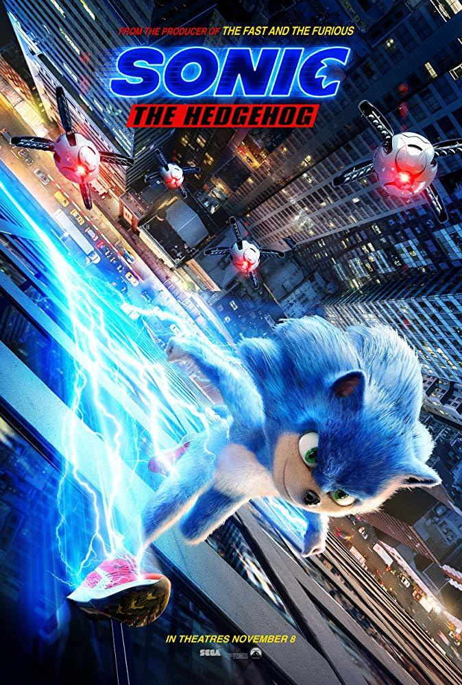 Filmposter Sonic the Hedgehog