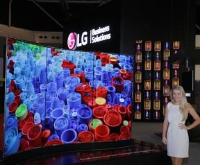 LG plat oled reclamescherm