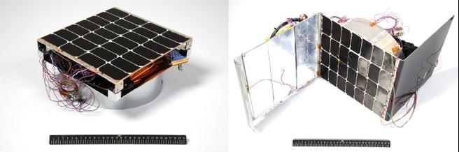 Zonnepaneel in de ruimte