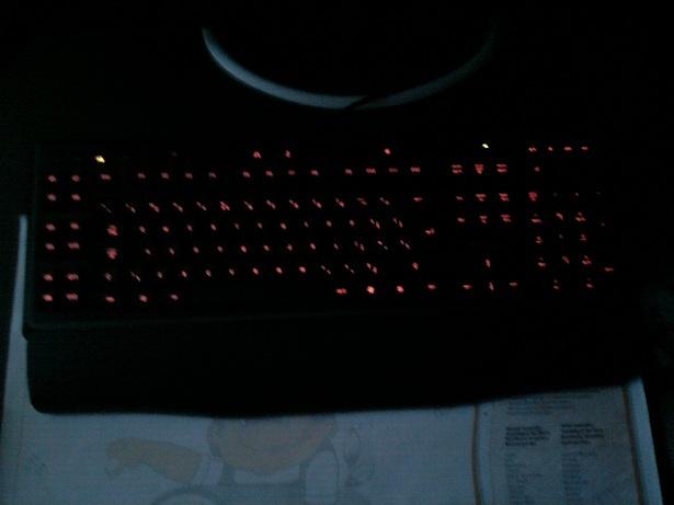 Logitech G110 verlichting rood