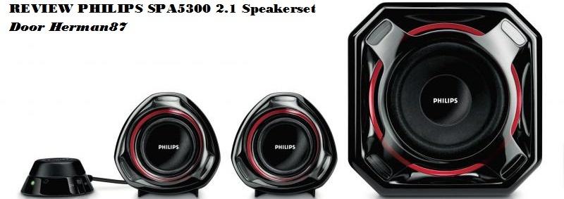 Titel review Philips SPA5300 2.1 Speakerset