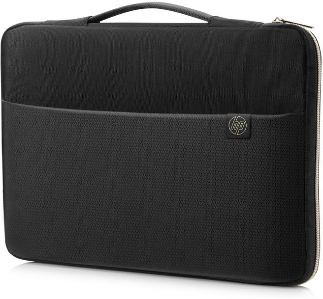 """HP 14"""" Carry Sleeve Black/Gold"""