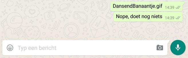 Gifs in WhatsApp zijn er nog niet