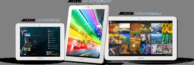 Archos-tablets uit Platinum-serie