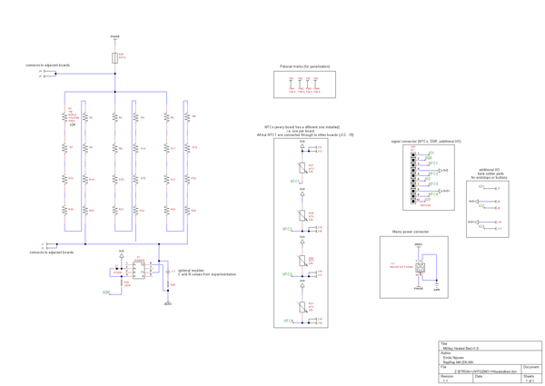 MiXley Heated Print Bed - schematic
