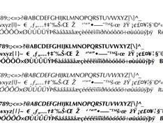 zwart-wit tekstfonts bron