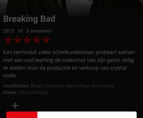Downloadoptie in Netflix