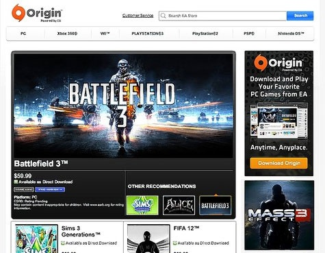 EA Origin screenshot
