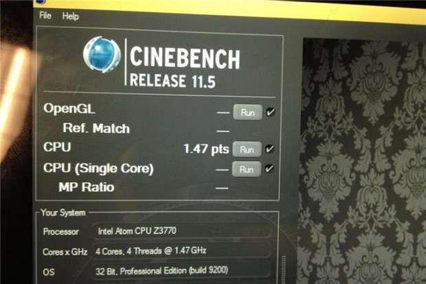 Intel Bay Trail Cinebench