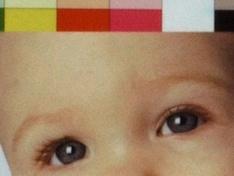 foto van kleurenfoto fragment 1 HQ printresultaat