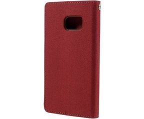 Mercury Canvas Diary Wallet Case voor Samsung Galaxy S7 - Rood Rood