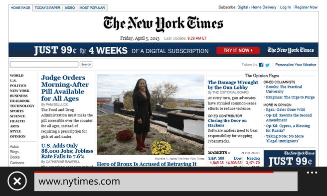 De tijd die de telefoons erover doen om NY Times te laden is niet genoeg om een kop koffie te halen
