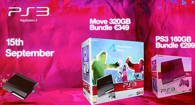 Nieuwe PS3-modellen tijdens de presentatie op Gamescom 2010