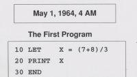 Eerste programma in BASIC