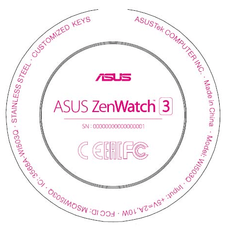 zenwatch 3 label rond