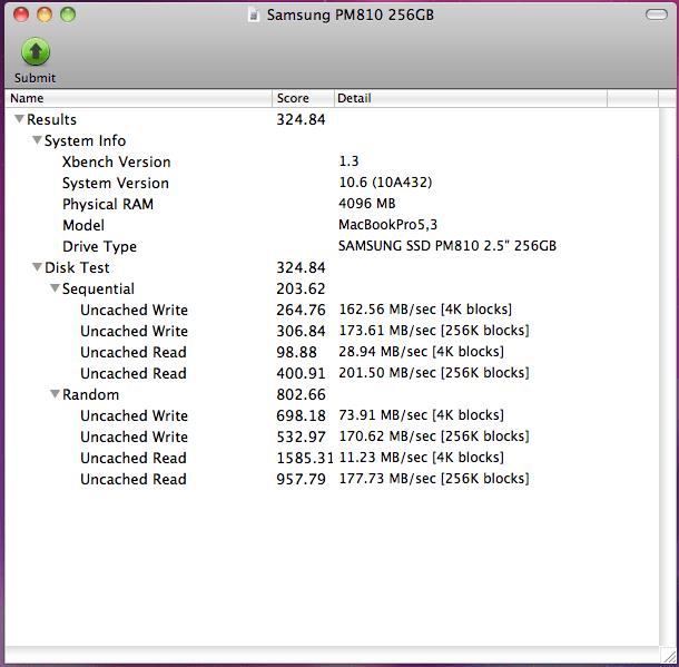 Samsung PM810 256GB
