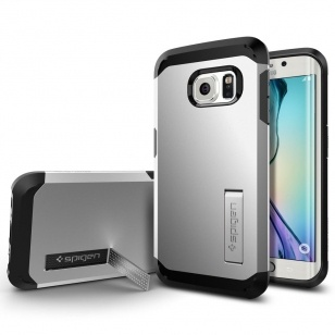 Spigen Tough Armor Samsung Galaxy S6 edge Case - SGP11432 - Satin Silver