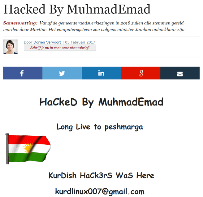 ZDnet.be hack