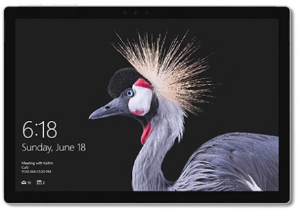 Microsoft Surface Pro (2017) Core i7, 8GB ram, 256GB ssd + zwarte Type Cover (Qwertz LU) Zilver