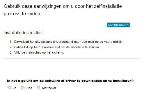 Driver installatie instructies