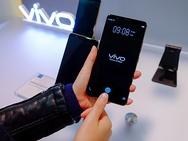 Vivo-telefoon met vingerafdrukscanner in het scherm