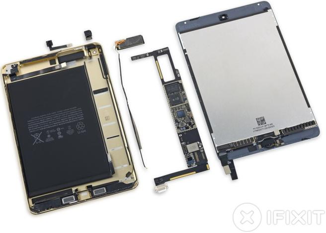 Teardown iPad mini 4 van iFixit