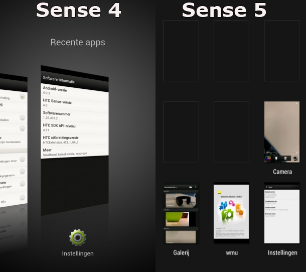 HTC One X update Sense 4 vs Sense 5
