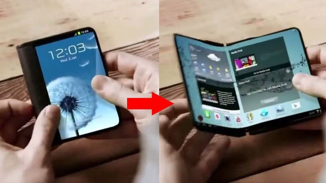 Concept: Samsungs vouwbare smartphone