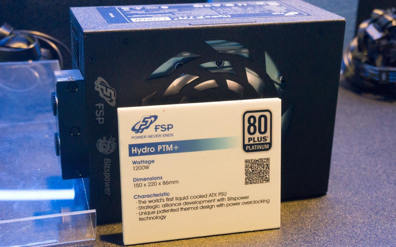 FSP toont voeding met waterkoeling op Computex