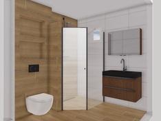 badkamer vanaf deur