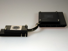 PCH en PCIe duplexer koelblok losgenomen