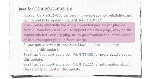 OS X Java plugin