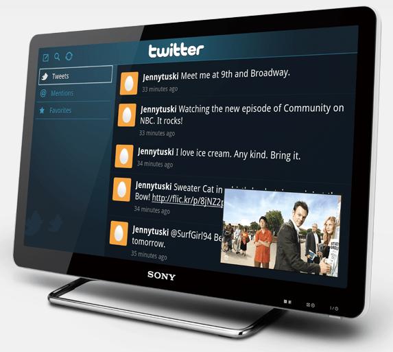 Google TV op Sony-hardware