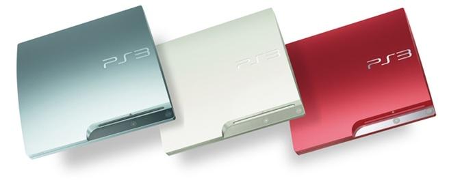 PlayStation 3 in drie nieuwe kleuren