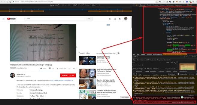 Cryptojacking op YouTube