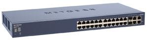 Netgear FS728TS ProSafe Rackmount Switch (24x 10/100Mbps, 4x 1000Mbps)
