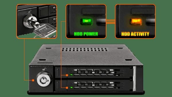 "Icydock MB992SK-B Dual Bay 2.5"" SATA Mobile Rack"