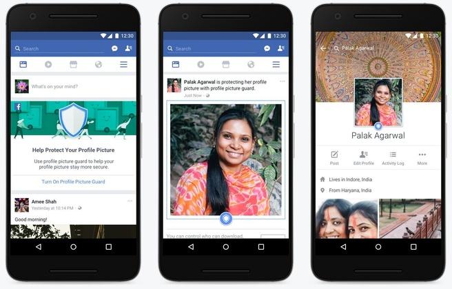 Facebook beschermde profielfoto