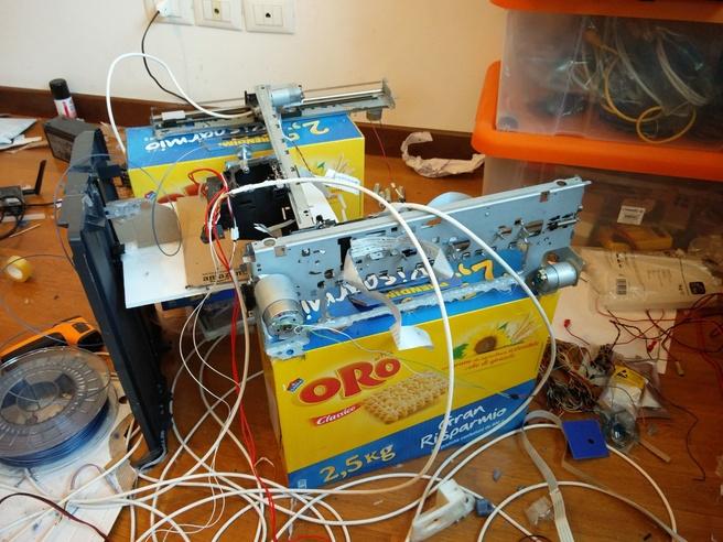 3d-printer gemaakt van inkjetprinteronderdelen