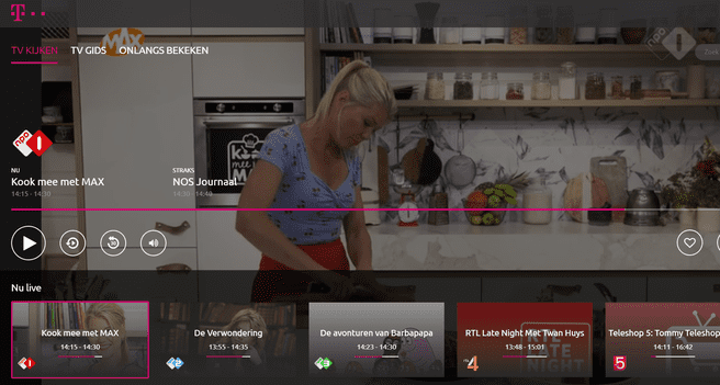 T-Mobile TV Anywhere in de browser