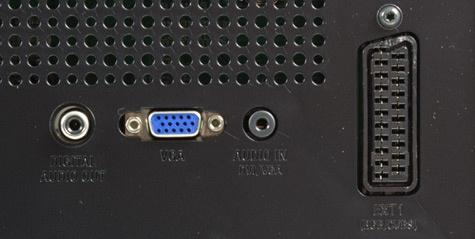 Philips PFL5606 aansluitingen