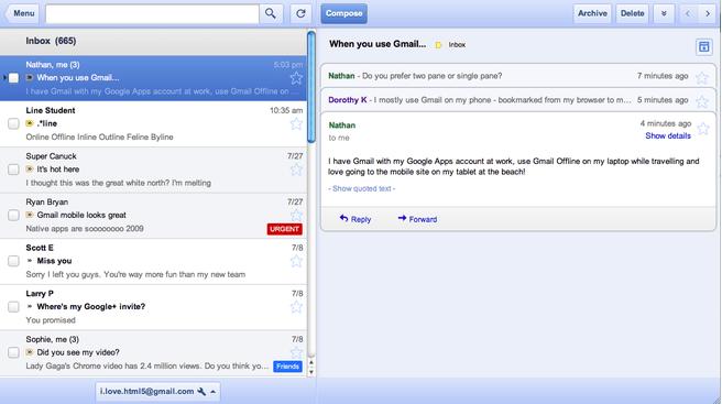 De nieuwe Gmail-app
