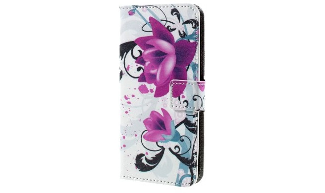 qMust Sony Xperia XZ Wallet Case - hoesje met stand - Lotus